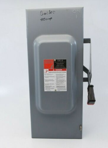 Federal Pioneer FPE 100A Heavy Duty Enclosed Disconnect Safety Switch