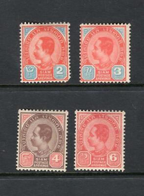 Thailand 1899-1904 Partial Set - OG MNH - SC# 77-8, 81-2  Cats $61.50+