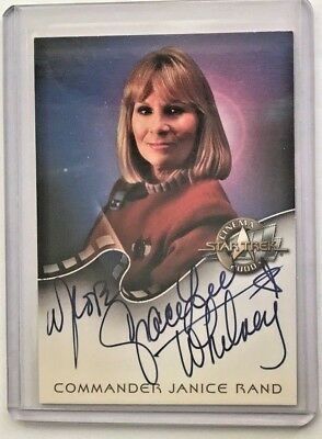 Star Trek Cinema 2000 Autograph Trading Card A7 COMMANDER JANICE RAND Mint