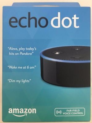 Amazon Echo Dot 2Nd Gen With Alexa Voice   Black  Brand New In Retail Packaging