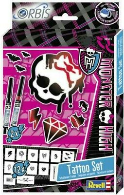 Revell 30303 Orbis Monster High Tattoo Set Airbrush-Schablonen + Farben NEU OVP