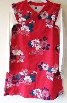Collection Poinsettia - BNWT Tea Collection Poinsettia Kata Wrap Neck Dress Size 6