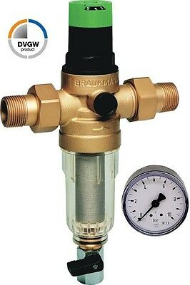 Honeywell Rückspülfilter / Druckminderer MiniPlus-FK 1 Zoll DN25, Manometer,DVGW