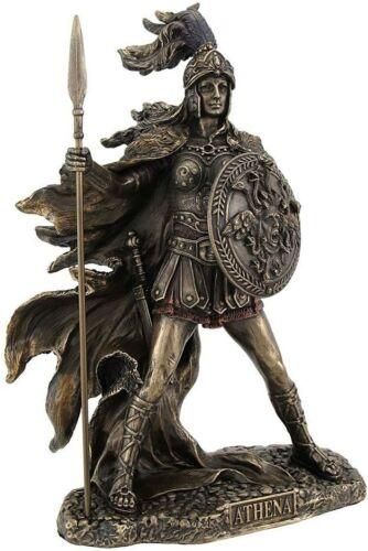 10.25 Inch Greek Warrior Athena Goddess of War & Wisdom Figure Statue Roman