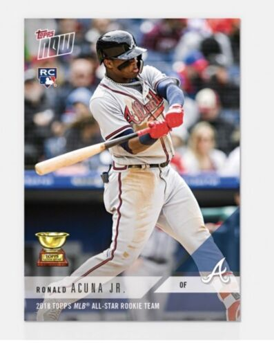 Купить 2018 Topps NOW All Star Rookie Team Ronald Acuna #RC-4 Braves Presale