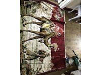 Large continental eygptian rug wall hanging