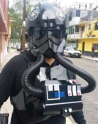 Star Wars TIE Fighter Pilot Helmet, Armor, Chest Box Complete Costume Prop Set](Star Wars Tie Fighter Pilot Costume)