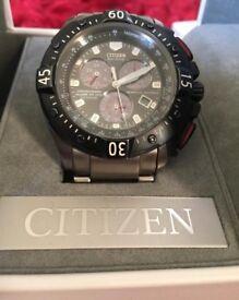 REDUCED- Titanium Citizen Eco Drive,Chronograph Watch