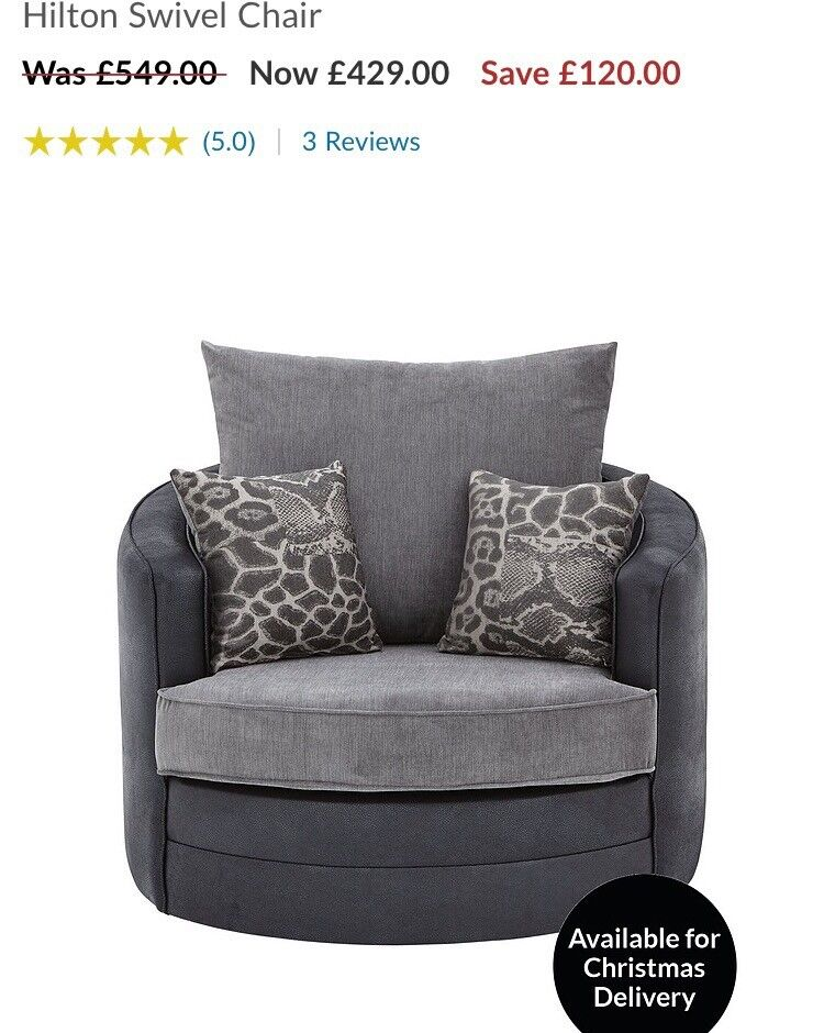 Swivel chair new as pic
