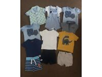Next clothes bundle pack for baby boys 3-6 months clothing t-shirt, polo, shorts, bodysuit