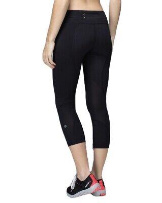 LULULEMON Inspire Crop II Luxtreme Leggings in Black, Size S.