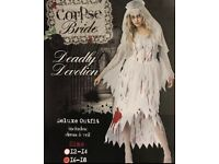 Ladies Halloween Ghost Bride 16-18 new