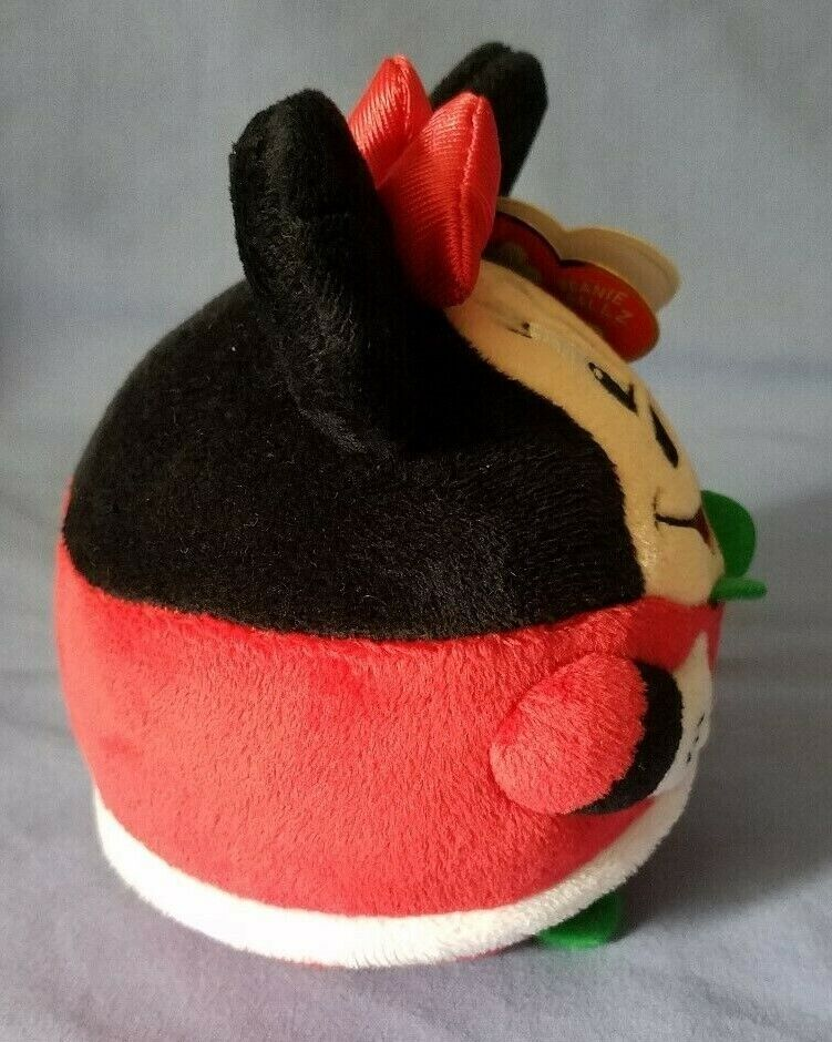 TY BEANIE BALLZ DISNEY MINNIE MOUSE 5 PLUSH HOLIDAY NWT AND TAG PROTECTOR - $3.50