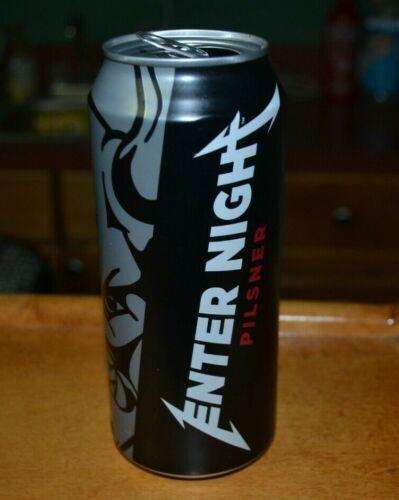 METALLICA ENTER NIGHT PILSNER BEER CAN Arrogant Consortia OPENED EMPTY 16oz