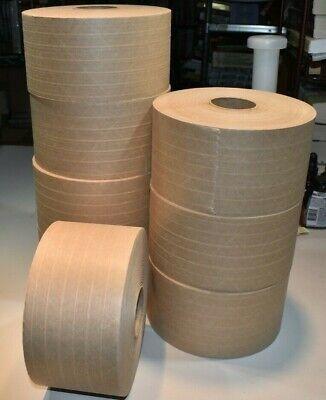 Uline Industrial Reinforced 3x375 Kraft Paper Tape New 8 Rolls Case
