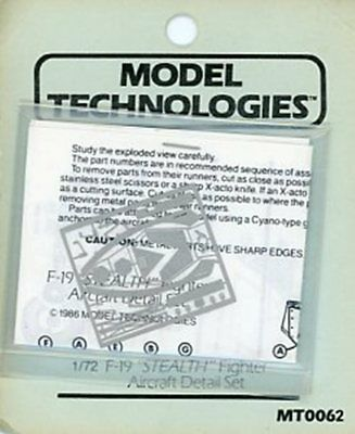 Model Technologies 1 72 F 19 Stealth Fighter Aircraft Pe Detail Set  Mt0062