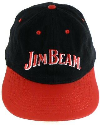 36b3a2d3aee Jim Beam Whiskey Snapback Cap Hat Red   Black