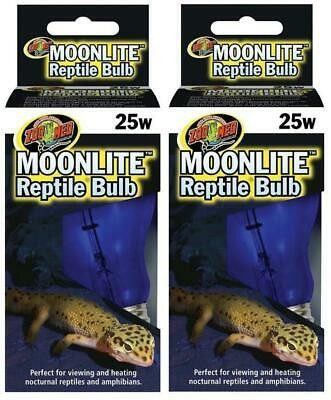 (2 Pack) Zoo Med Moonlight Bulb for Reptiles, 25 Watts