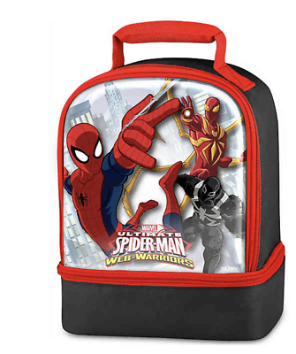 Spider-Man Lunch Bag Lunchbox Kit Dual Compartment Insulated