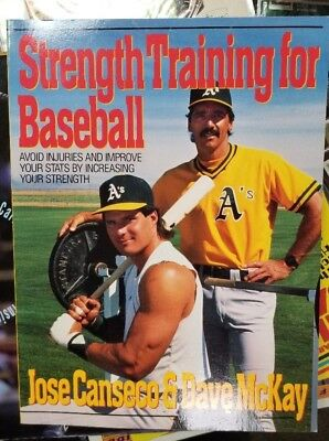 Coachs Strength Training - Jose Canseco 1990 Strength Training For Baseball Book with Coach Dave McKay