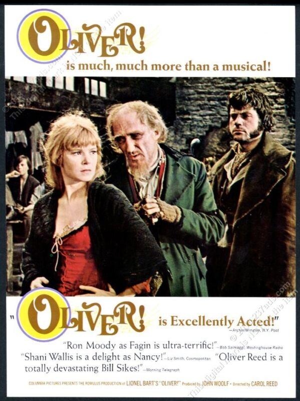1969 Oliver musical movie Shani Wallis color photo vintage trade print ad