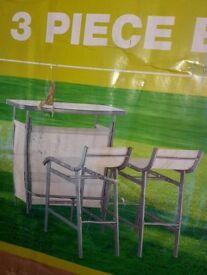BRAND NEW 3 piece garden/outdoor BAR SET
