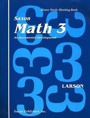 Saxon Math 3 Homeschool Student Meeting Book First Edition 3Rd Grade New