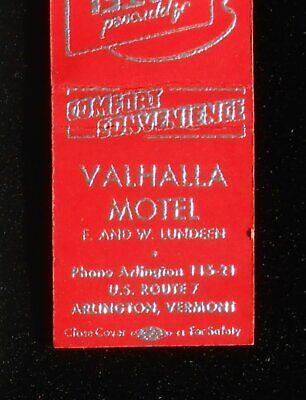 1950s Valhalla Motel F. and W. Lundeen Route 7 Arlington VT Bennington Co (Valhalla Motel)