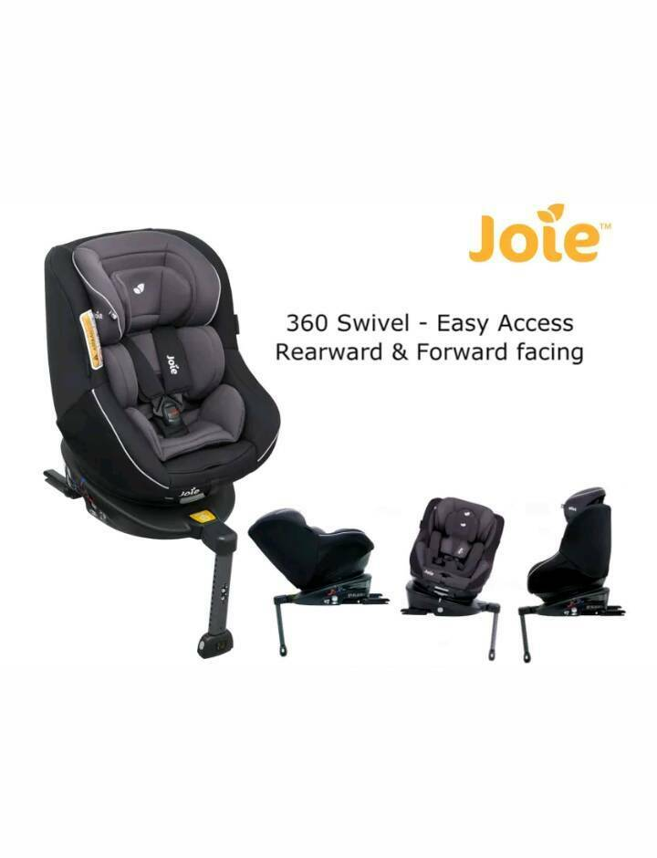 Brand New Joie 360 Spin Car Seat Two Tone Black Extended