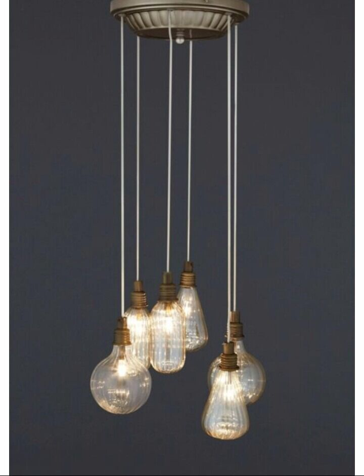 Next islington 6 bulb vintage industrial style light fitting