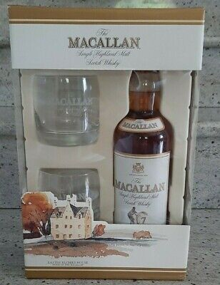 Set Whisky The Macallan 7 years with two glasses, rarità!