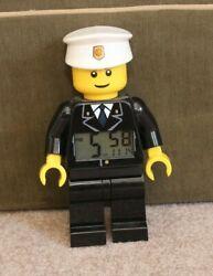 9 Lego City Police Officer Minifigure Kid's Digital Back lit Alarm Clock