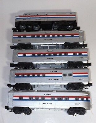 O SCALE 027 LIONEL AMTRAK  PASSENGER TRAIN SET ENGINE 4 CARS TESTED A OK for sale  Shipping to Canada