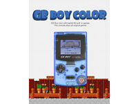 NEW,KONG FENG GB Boy Color Handheld game consoles,Blue