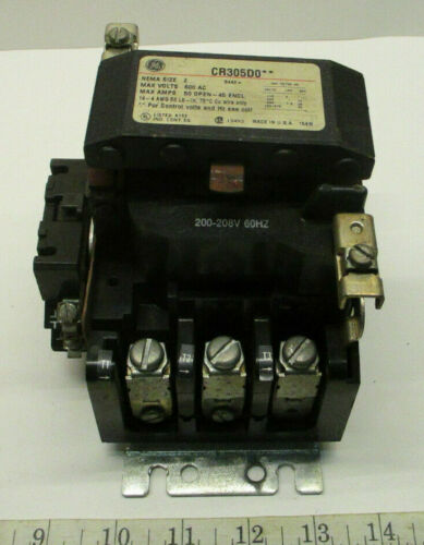 GE MOTOR STARTER CR305D0** Contactor 15D22G023 Coil CR305X200A Auxiliary Contact