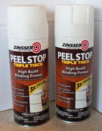 2 PK Zinsser Peel Stop 3X Thicker 12 OZ High Performance Paint Primer
