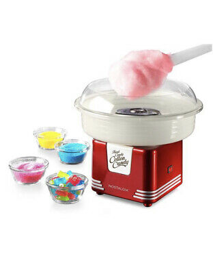 Nostalgia Retro Red Hard Sugar Free Candy Countertop Cotton Candy Maker Cones