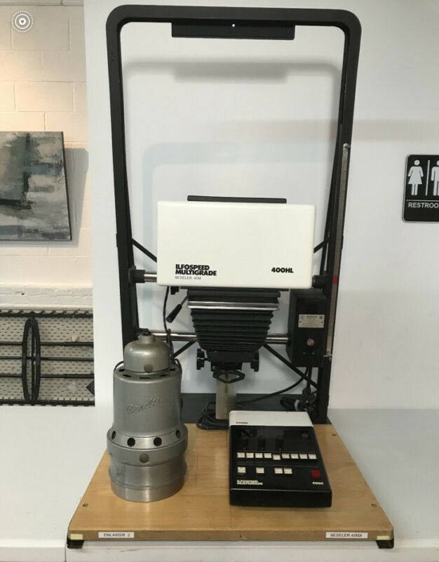Beseler 45 MX 4x5 Enlarger with Ilford Ilfospeed Multigrade Head And 400c