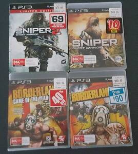 PS3 Sniper 1 & 2 and Borderlands 1 & 2 Old Beach Brighton Area Preview