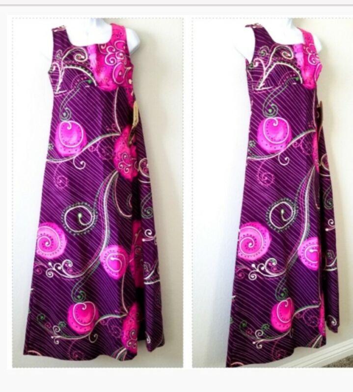 TORI RICHARD VINTAGE Pink Hawaiian Floral Dress Women