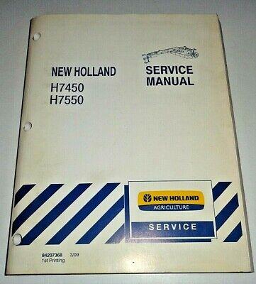 New Holland H7450 H7550 Disc Mower Conditioner Service Repair Manual Original Nh