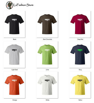 Unix 1970 Linux Computer Geek Tshirts S-5XL - 1970 Mens Clothes