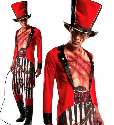Adult Lion Tamer Costume (Adult Deluxe HALLOWEEN RINGMASTER Lion Tamer Fancy Dress Circus Zombie Showman)