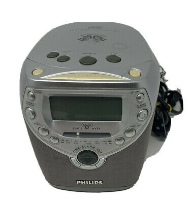 Philips Magnavox AJ3950/17 Gentle Wake Dual Alarm Clock CD Player Radio