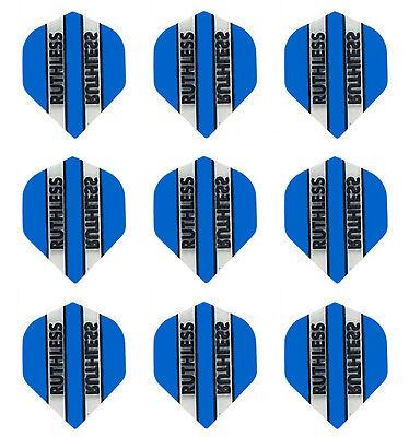 Standard Shape Pentathlon H10-24 Dart Flights Clear//Blue//Black /& Stars