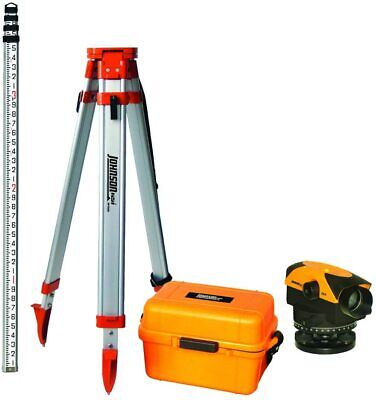 Johnson 40-6962 32x Automatic Level With 40-6335 Tripod And 40-6310 Grade Rod