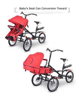 Folding Carry Baby Bike Stroller Umbrella Parents Child Baby Bike Bicycle Cart