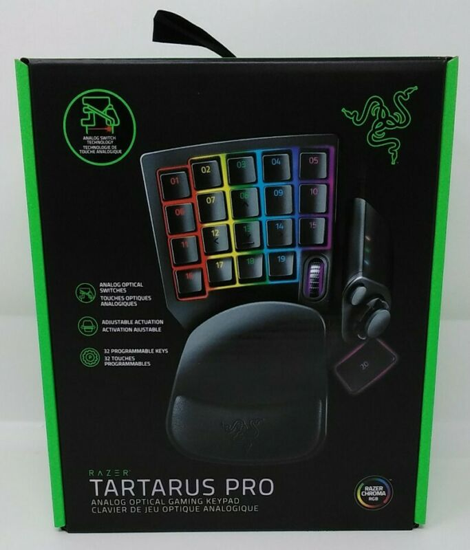 Razer Chroma RGB Tartarus Pro Analog Optical Gaming Wired Keypad