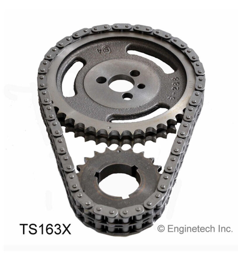 HD DOUBLE ROLLER TIMING CHAIN SET 3 KEYWAY SBC CHEVY V8