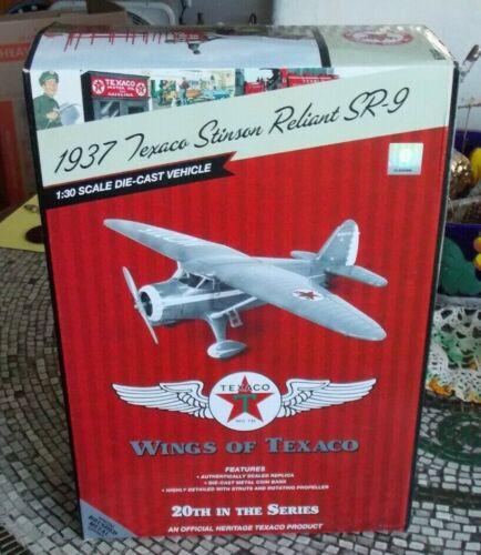 2012 Wings of Texaco Airplane #20 1937 STINSON RELIANT SR-9 REG EDITION NEW E